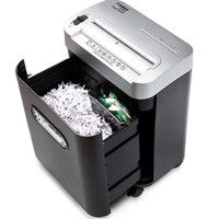 Dahle PaperSAFE 22092 Paper / Multi+Media Shredder - Easy to empty waste bin- Pull open front to empty multi+media container or shred bin.