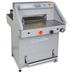 Formax Cut-True 29H Hydraulic Guillotine Paper Cutter - Standard model, without optional wide side tables