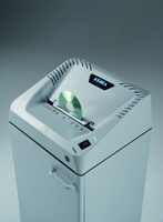 Auto Start & CD Shredding Automatic Start/Stop through electronic eyes. Integrated flap for CDs, DVDs, Floppy Disks and Smart Cards shredding