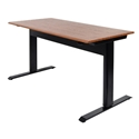 "Luxor SPN56F-BK/TK - 56"" Pneumatic Adjustable Height Standing Desk"