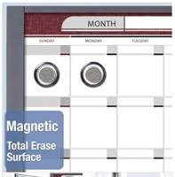 Quartet InView Custom Whiteboards - Magnetic - Total Erase Surface