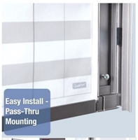 Quartet InView Custom Whiteboards - Easy Install - Pass-Thru Mounting