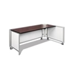Swiftspace Social + Single Surface Space-Saver Right 4' x 3' Collapsible Workstation SS2934L2948R