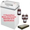 AABES ©  Intimus Pro 120CC6 NSA/CSS 02-01 High Security Shredder Package with Bags, Oil and Oiler AABES ©  Intimus Pro 120 CC6 NSA/CSS 02-01 High Security Shredder Package with Bags, Oil and Oiler