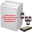 AABES ©  Intimus Pro 175CP7 NSA/CSS 02-01 High Security Shredder Package with Bags, Oil and Oiler AABES ©  Intimus Pro 175 CP7 NSA/CSS 02-01 High Security Shredder Package with Bags, Oil and Oiler