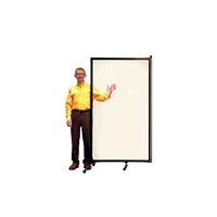 Screenflex CRD1 Clear Room Divider 1 Panel (3'-4' Long) - CRD1