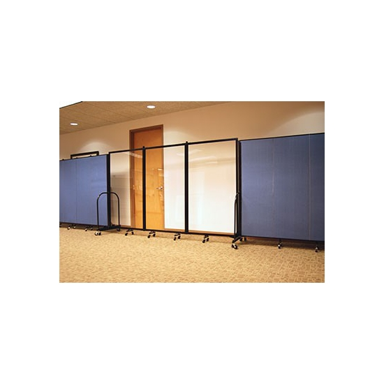Screenflex CRD1 Clear Room Divider 1 Panel 3 4 Long