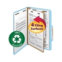 Smead 18721 100% Recycled Pressboard Colored Classification Folders File Folders