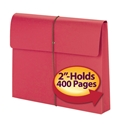 Smead 77205 Redrope and Colored Expanding Wallets with Elastic Cord Hanging Pocket