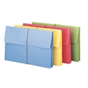 Smead 77271 Redrope and Colored Expanding Wallets with Elastic Cord File Labels