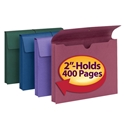 Smead 77288 Redrope and Colored Expanding Wallets with Elastic Cord (Bundle: 6 PK) File Folders