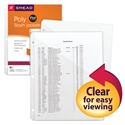 Smead 89506 Poly Translucent Slash Jackets (Bundle: 24 PK) File Labels