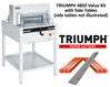 "Triumph 4850 Automatic 18-5/8"" Paper Cutter Value Kit with 1 box cutting sticks and 1 extra blade Triumph 4850 Automatic 18-5/8"" Paper Cutter Value Kit with 1 box cutting sticks and 1 extra blade"