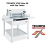 "Triumph 5255 Automatic-Programmable 20-3/8"" Paper Cutter Value Kit with 6 cutting sticks and 1 extra blade Triumph 5255 Automatic-Programmable 20-3/8"" Paper Cutter Value Kit with 6 cutting sticks and 1 extra blade"